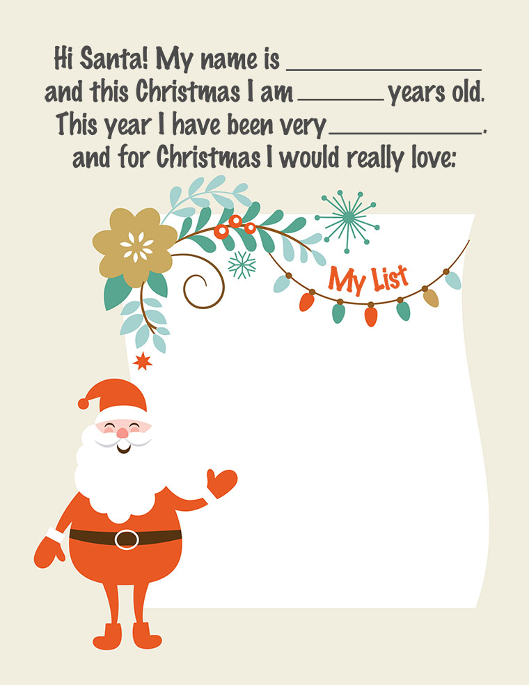 image about Santa Printable identify Letter in the direction of Santa: Absolutely free Printable - Jane Blog site Jane Website