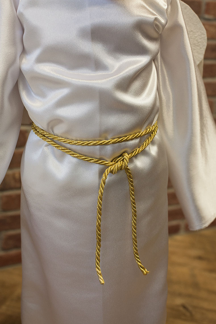 Tie Off the Robe with a Gold Rope