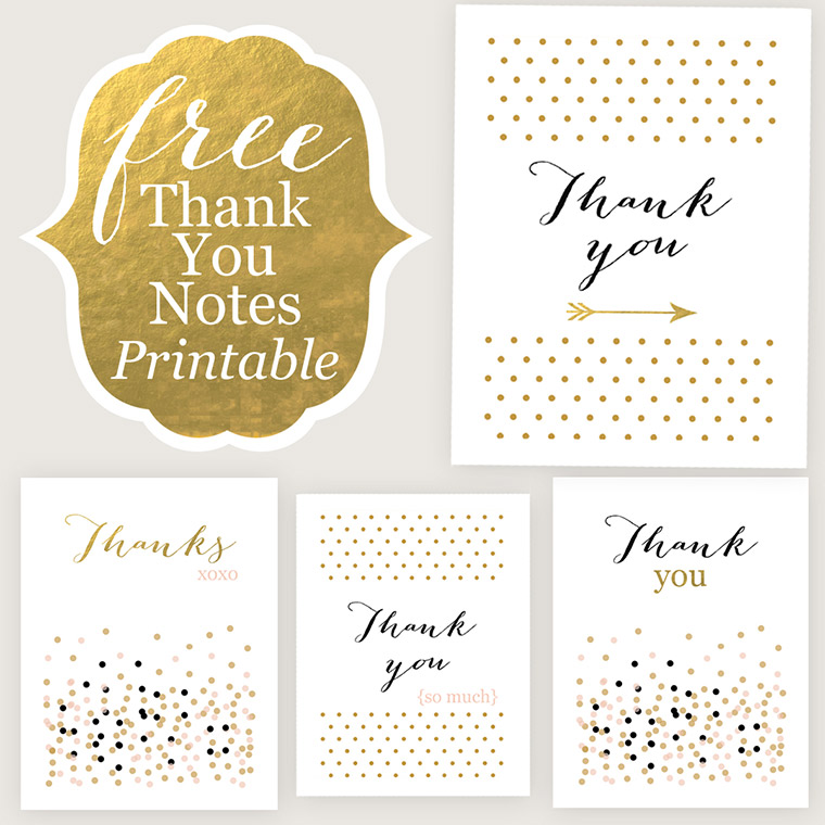 image relating to Free Printable Thank You called Thank Your self Playing cards - No cost Printable - Jane Website Jane Blog site