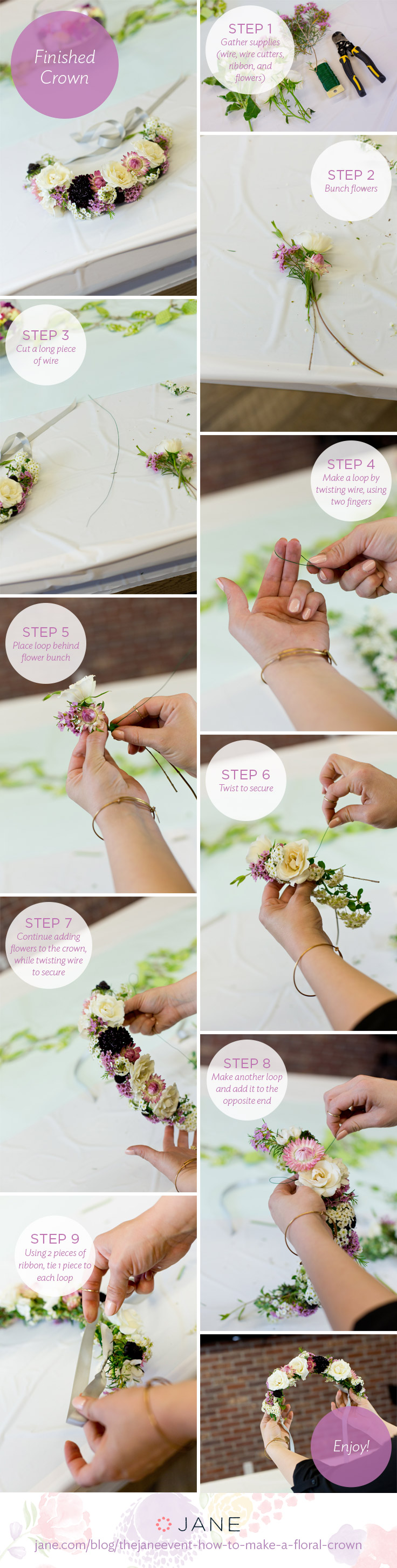 Thejaneevent how to make a floral crown jane blog jane blog jane thejaneevent how to make a floral crown izmirmasajfo