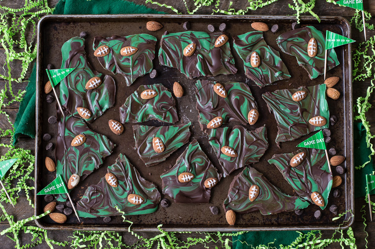 21 Touchdown Recipes for Your Super Bowl Party: Football Bark