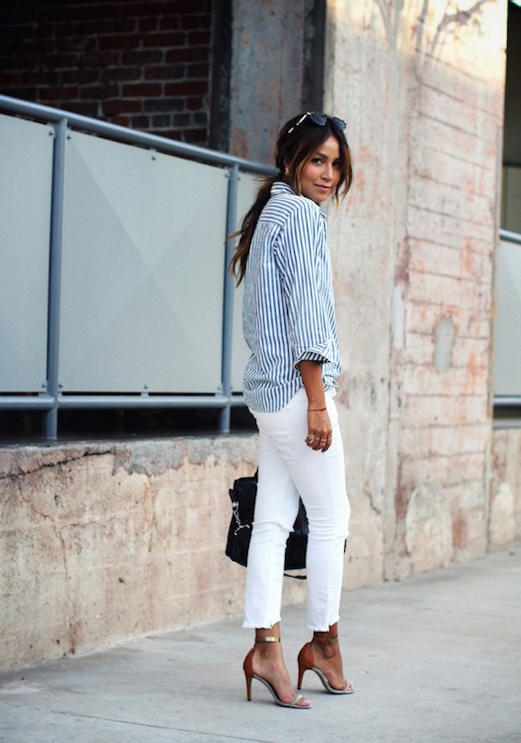 sincerely jules striped button-down