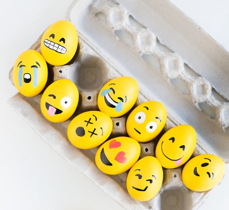 9 ways to decorate easter eggs jane blog everyone loves your emojis and your kids will definitely go crazy for these designs paint a bunch of hard boiled eggs yellow then go to town with ccuart Gallery