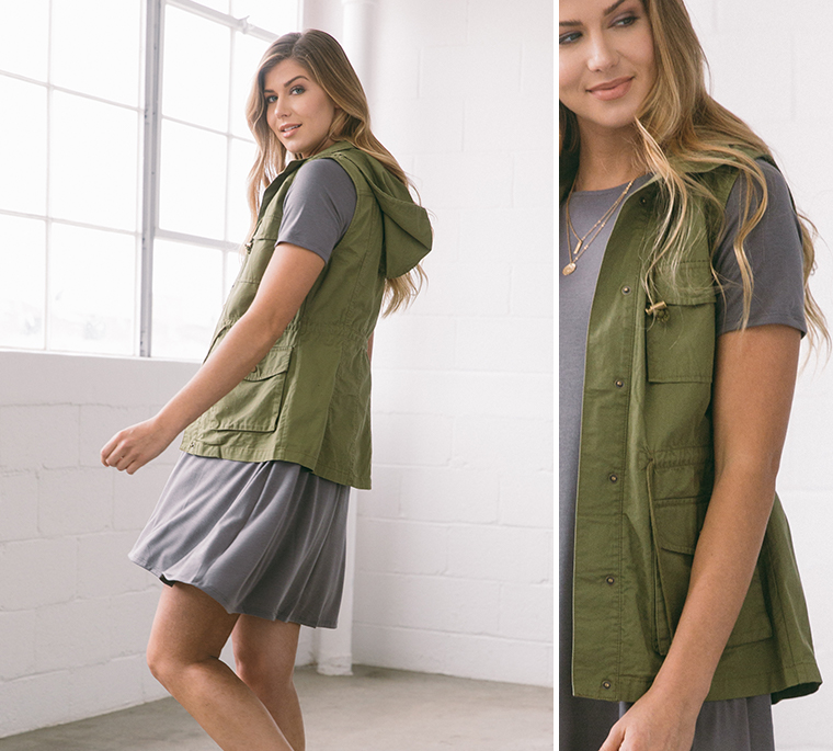 girl-gray-dress-cargo-vest