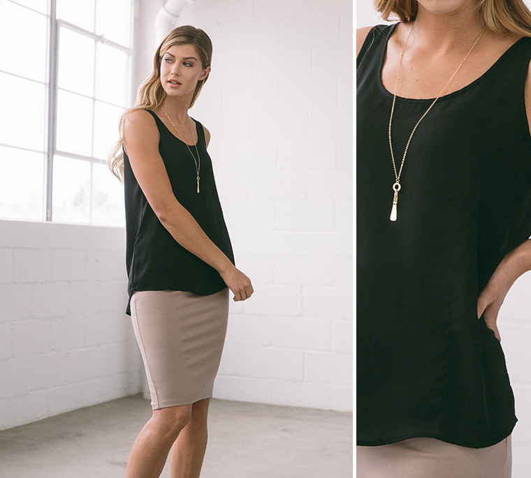 pencil-skirt-black-tank