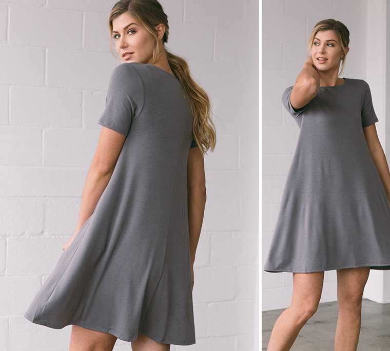 girl-gray-swing-dress