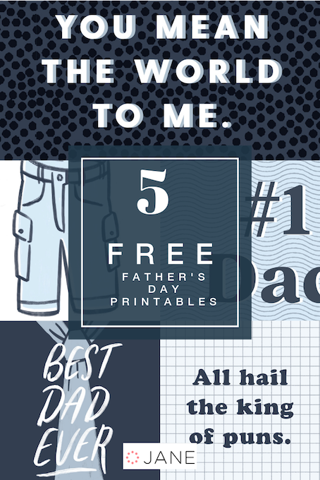 graphic about Free Printable Fathers Day Cards known as Absolutely free Printable Fathers Working day Playing cards! - Jane Website Jane Site