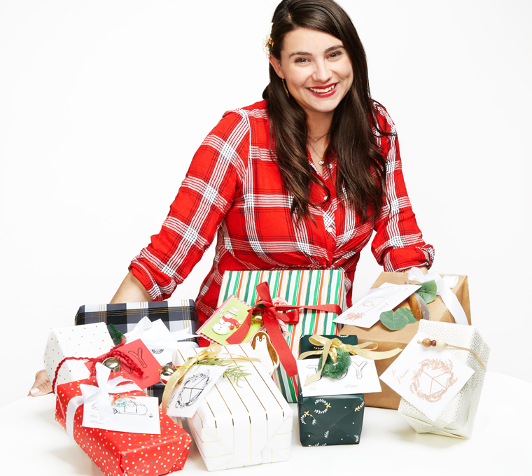 gift wrapping with Canary Jane