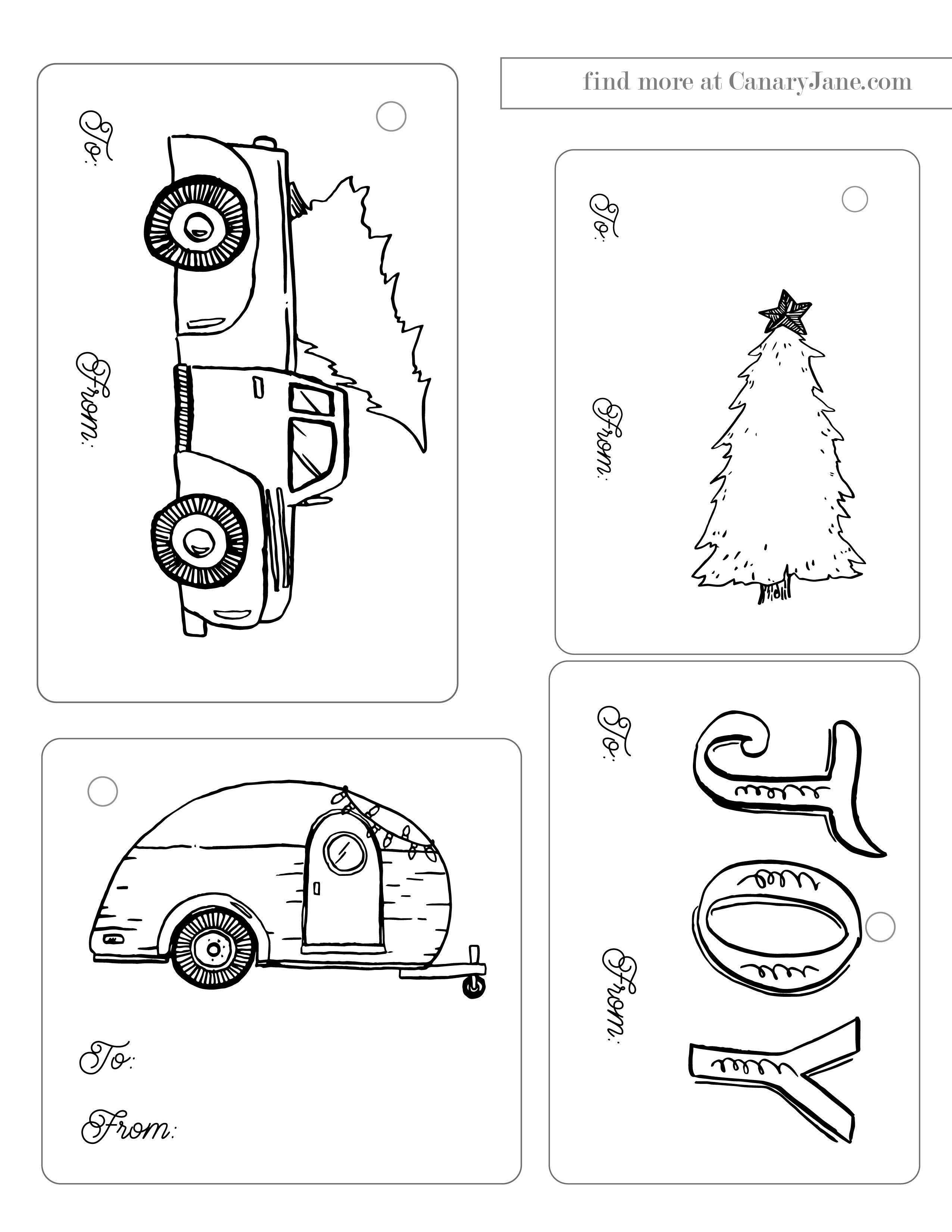gift wrapping printable