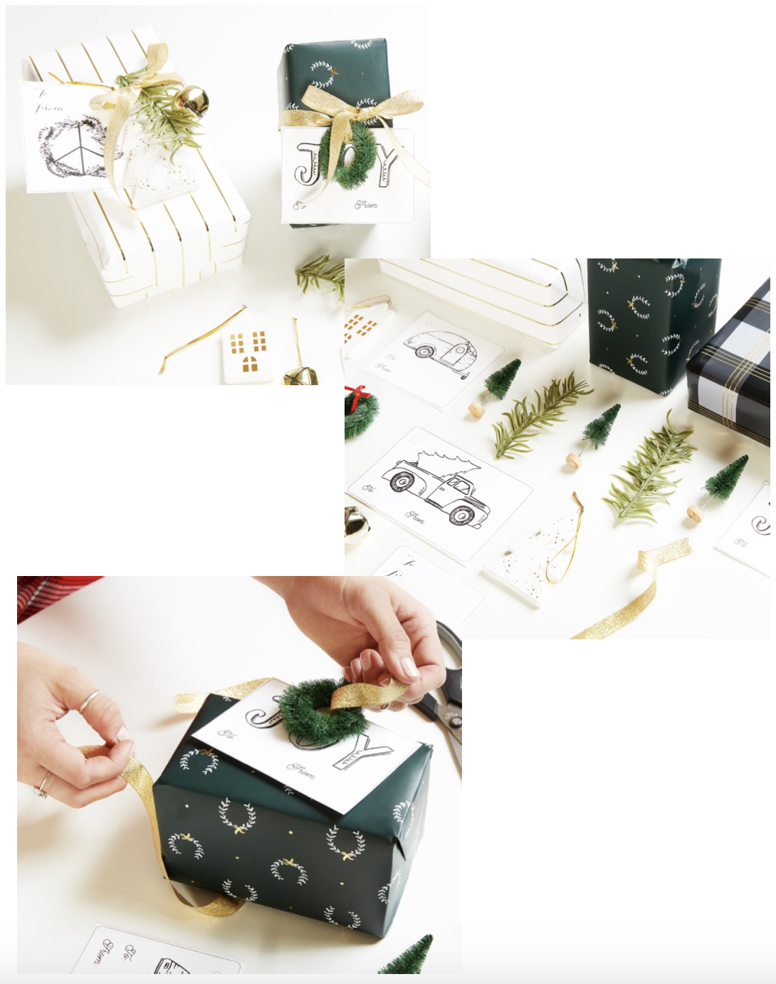 midnight clear gift wrapping