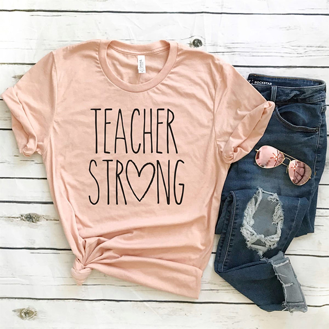 teacher strong graphic tee