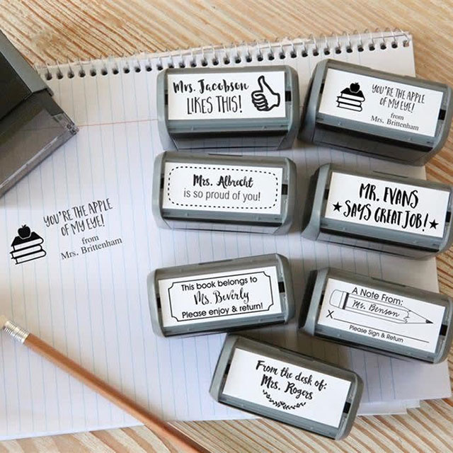 teacher's personalized stamps