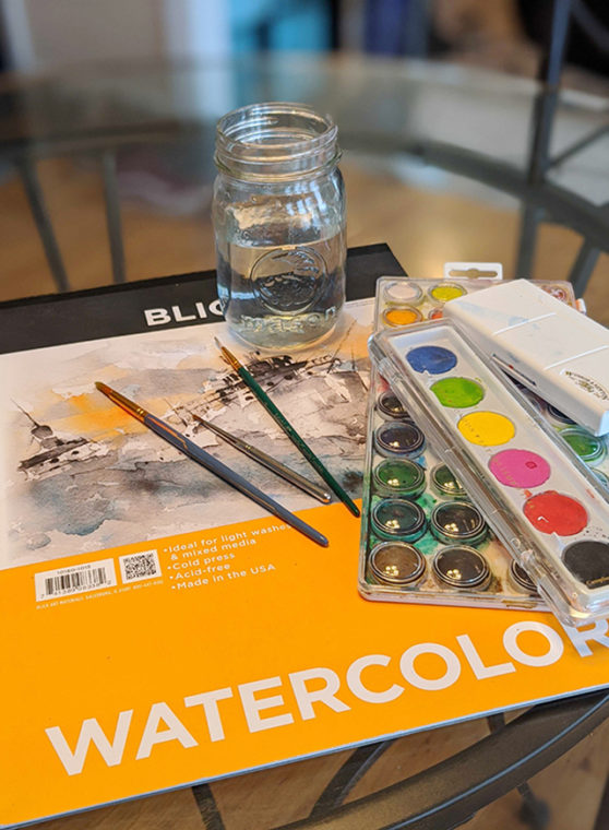 watercolor supplies for painting watercolor flower art