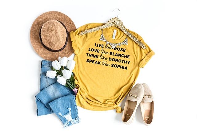 golden girls summer graphic tee outfit