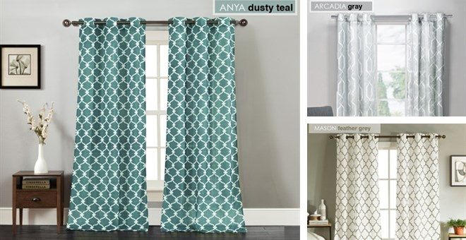Trendy Geometric Window Panels (Set of 2) | Jane