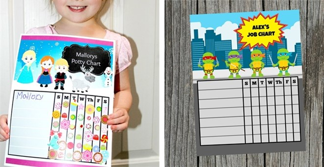 Personalized Printable Reward Chore Potty Practice