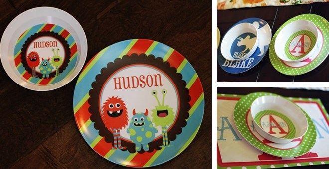 Kids Personalized Plates OR Cereal Bowls – 85 options!