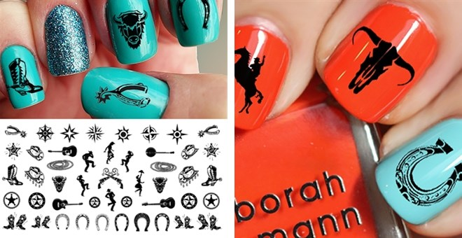 - Country & Western Nail Art Decals - Choice Of Two Sets! Jane