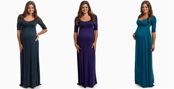 3/4 Sleeve Maternity Maxi Dresses | Jane