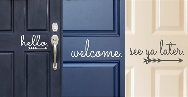 How to make front door decals create and babble