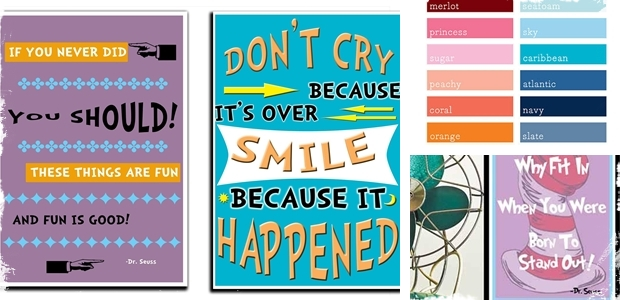 "Dr. Seuss Quote Art - 11""x17"" Posters! 12 Prints to Choose From!"
