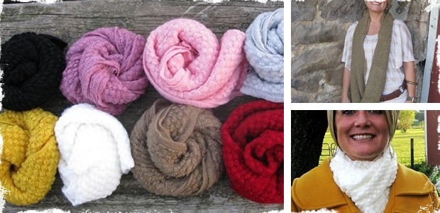 Perfect for Fall!  Knit Infinity Scarves in 10 Different Colors!
