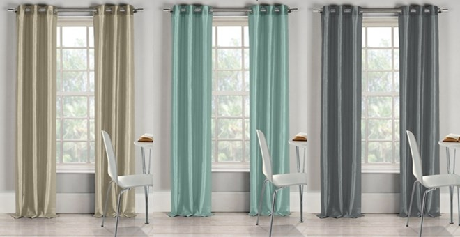 Classic Sheen Curtains Set Of 2 Jane