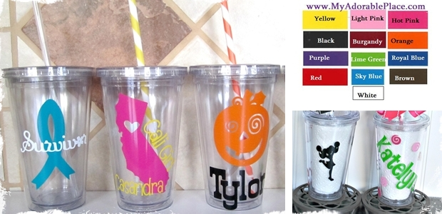 Adorable Personalized Insulated Tumblers
