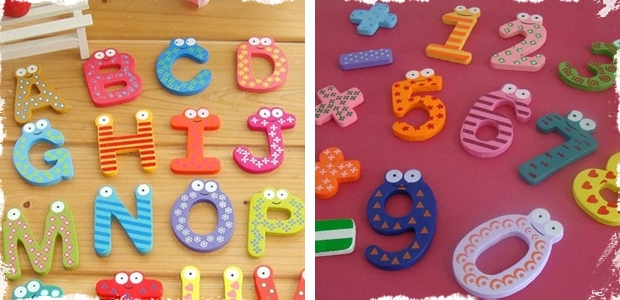 Fridge Magnets - Choose From the 26 Faces of the Alphabet or Super Cute Numbers & Symbols! ! A Must Have for Every Household!