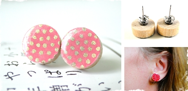 Bright Statement Ear Studs in Japanese Paper - Perfect for Everyday Wear, a Night Out or Weddings! 10 Colors to Choose From!