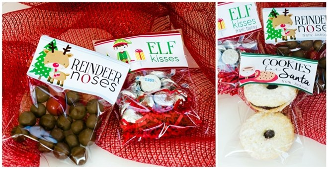 Elf Kisses! Personalized Holiday Stickers & Treat Bags! | Jane