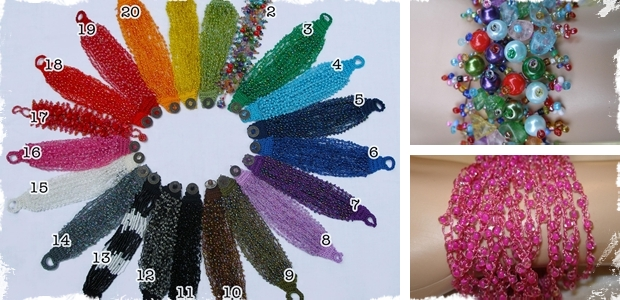 Crochet Beaded or Stone Bracelets! - 21 Different Choices!