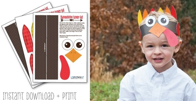 Printable Turkey Craft For Kids