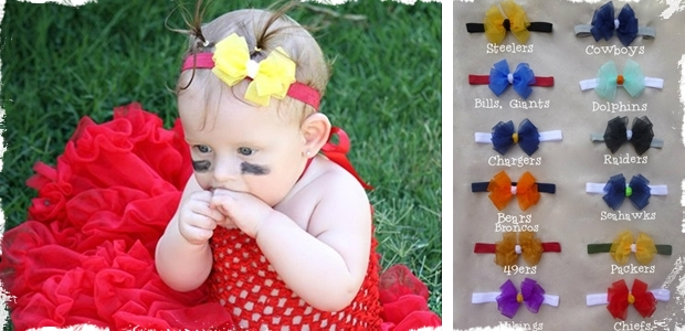 NFL Team Headband Bows - Choose Your Favorite Team!