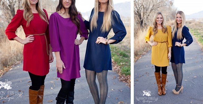 Tunic Shirt Dress- 2 styles!