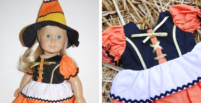 Candy Corn Witch for 18 Inch Doll | Jane