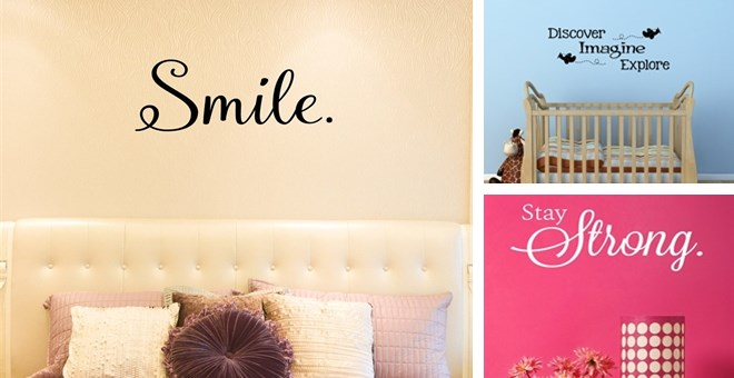 Wall Decor Stickers Pune : Options inspirational wall decals jane