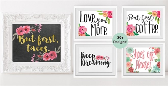 BOGO FREE Floral Wall Art | Inspirational, Kitchen & Home ...
