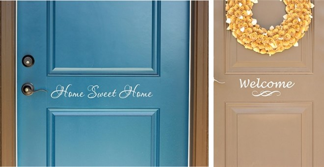 Front Door Vinyl Front Door Decals 6 Options Jane