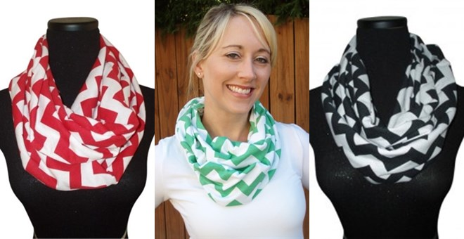 Chevron Infinity Scarves Perfect Gifts Blowout Sale Jane