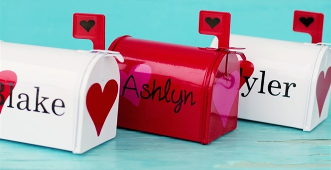 Personalized Valentine's Day Mailboxes- 3 Options