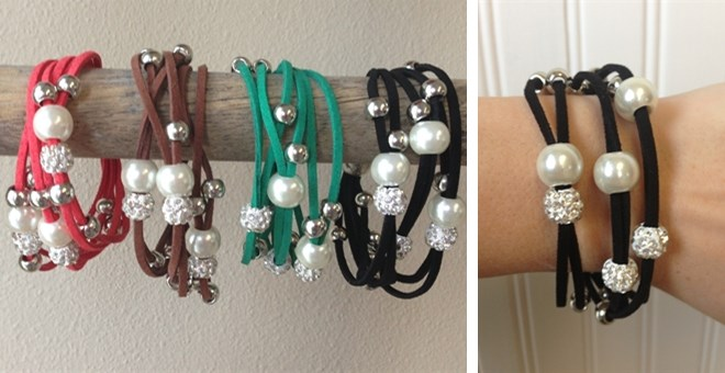 Leather Beaded Bracelets