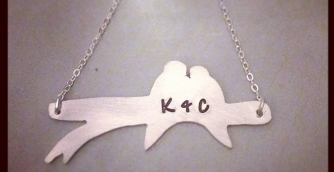 beautiful lovebirds necklace jane