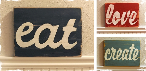 typography wood signs jane