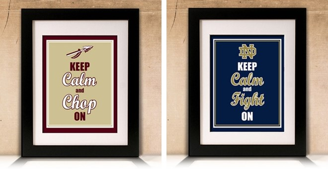 Keep Calm College & NFL Sports Prints
