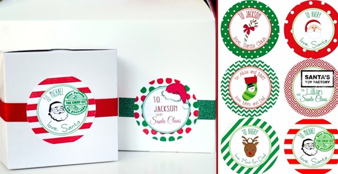 Personalized Christmas Gift Labels