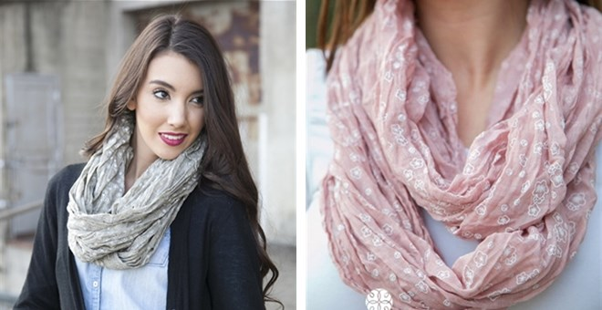 Rosie Infinity Scarves! 4 Color Options!