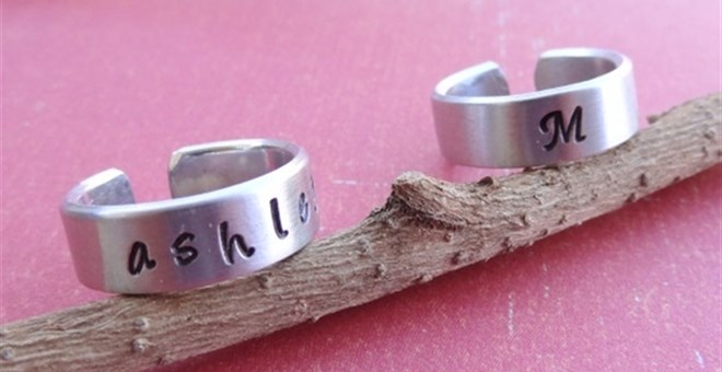 Custom Hand Stamped Adjustable Ring