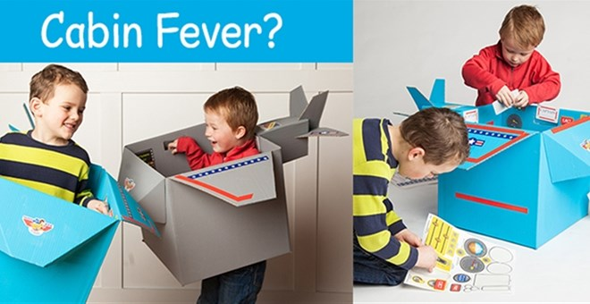 Cardboard Box Airplane Stickers - back for more Indoor Fun