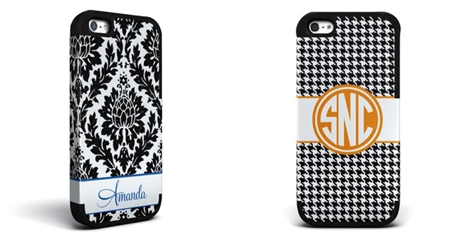 Personalized Damask or Houndstooth Phone Cases, with bumpers!